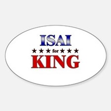 ISAI for king Oval Decal