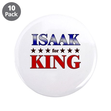 "ISAAK for king 3.5"" Button (10 pack)"