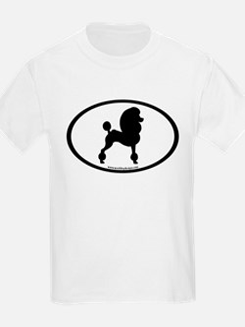 Fancy Poodle Oval T-Shirt