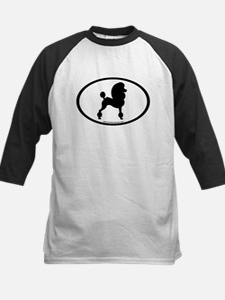 Fancy Poodle Oval Kids Baseball Jersey