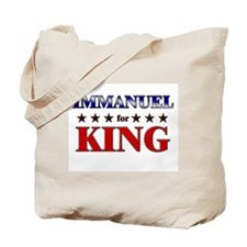 IMMANUEL for king Tote Bag