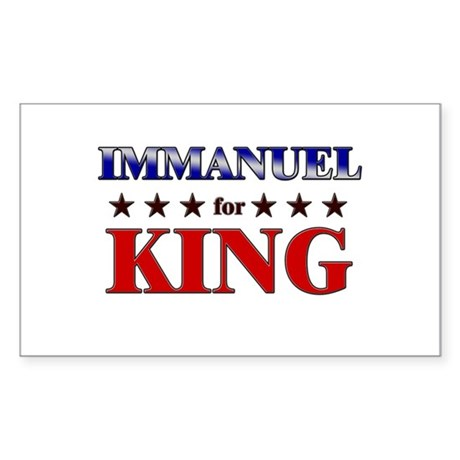 IMMANUEL for king Rectangle Sticker