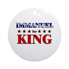 IMMANUEL for king Ornament (Round)
