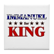 IMMANUEL for king Tile Coaster