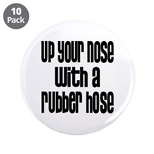 """Up Your Nose 70s 3.5"""" Button (10 pack)"""
