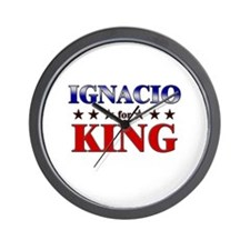 IGNACIO for king Wall Clock
