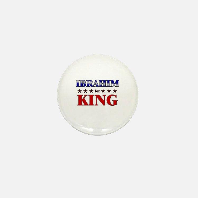 IBRAHIM for king Mini Button