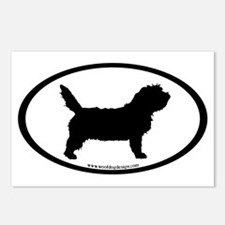 PBGV Dog Oval Postcards (Package of 8)