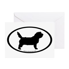 PBGV Dog Oval Greeting Cards (Pk of 10)