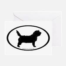 PBGV Dog Oval Greeting Card