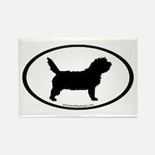 PBGV Dog Oval Rectangle Magnet