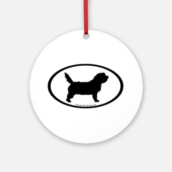 PBGV Dog Oval Ornament (Round)