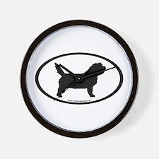 PBGV Dog Oval Wall Clock
