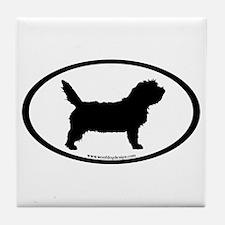 PBGV Dog Oval Tile Coaster