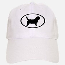 PBGV Dog Oval Baseball Baseball Cap