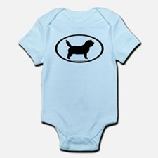 PBGV Dog Oval Infant Bodysuit