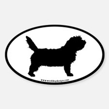 PBGV Dog Oval (black border) Oval Decal