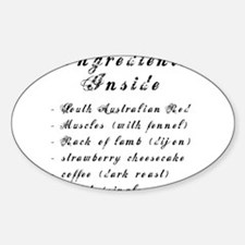 Inside Ingredients Oval Decal
