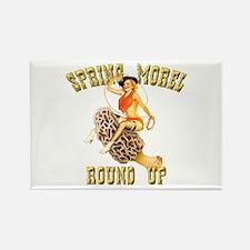 spring morel round up Rectangle Magnet