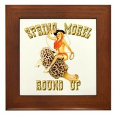 spring morel round up Framed Tile