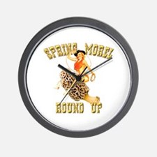 spring morel round up Wall Clock