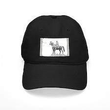 Baseball Hat Man on Horseback