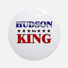 HUDSON for king Ornament (Round)
