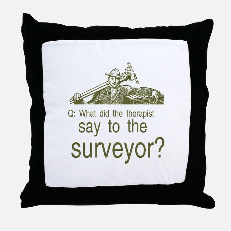 Cute Engineer surveyor Throw Pillow