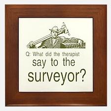Cute Surveyors Framed Tile