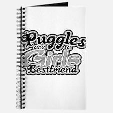 Puggles are a girls bestfrien Journal