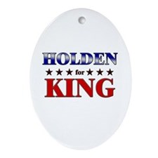 HOLDEN for king Oval Ornament