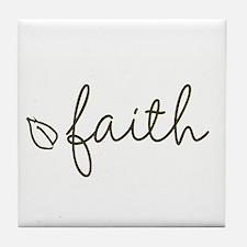 Unique Faith Tile Coaster
