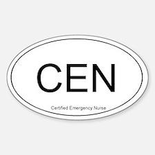 Emergency Nurse Oval Decal