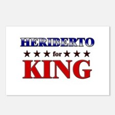 HERIBERTO for king Postcards (Package of 8)