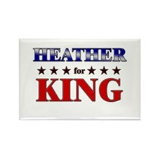 HEATHER for king Rectangle Magnet (10 pack)