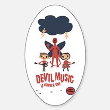 Devil Music Is Number One Oval Decal