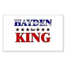 HAYDEN for king Rectangle Decal
