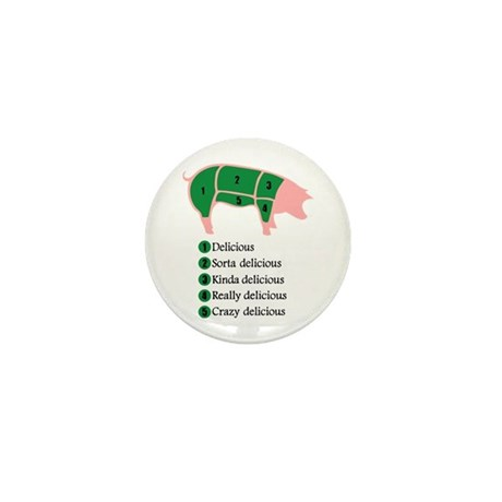 Delicious Pig Mini Button (10 pack)