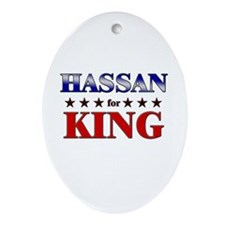 HASSAN for king Oval Ornament