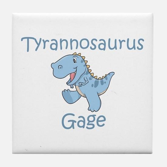 Tyrannosaurus Gage Tile Coaster