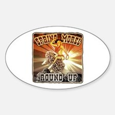 spring morel round up Oval Decal