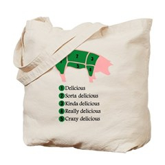 Delicious Pig Tote Bag