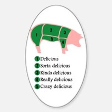 Delicious Pig Oval Decal