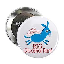 """Little Democrat Obama 2.25"""" Button"""