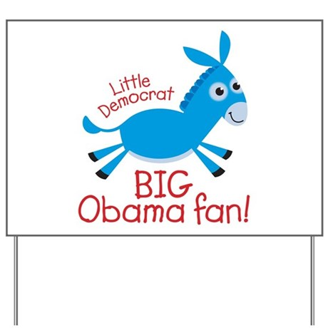 Little Democrat Obama Yard Sign