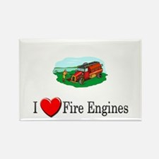 I Love Fire Engines Rectangle Magnet