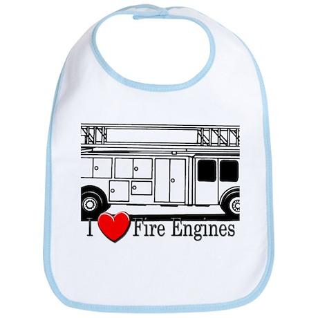 I Love Fire Engines Bib