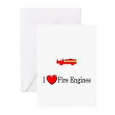I Love Fire Engines Greeting Cards (Pk of 10)
