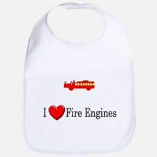I Love Fire Engines Bib