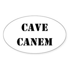 "Cave Canem ""Beware of Dog"" Oval Decal"